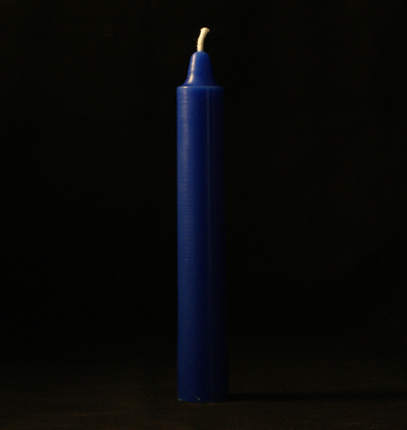 Royal Blue Anointed Taper Candles - Pair