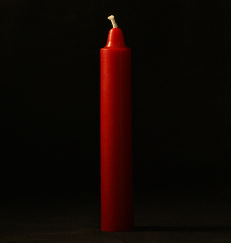 Ruby Red Anointed Taper Candles - Pair