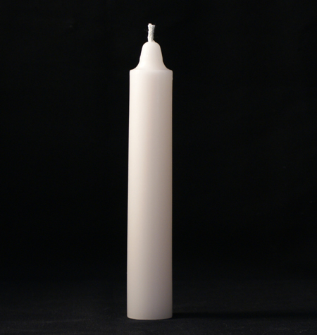 Pure White Anointed Taper Candles - Pair